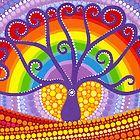 Rainbow Boab Tree of Life porción Elspeth McLean