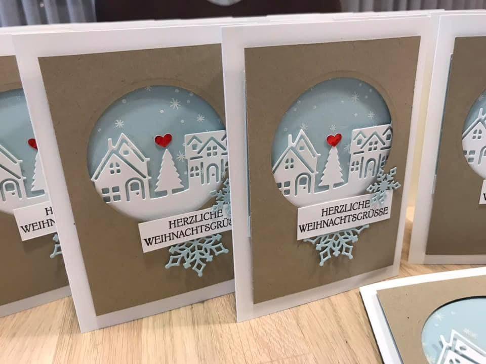 Weihnachtskarten schnell gemacht.