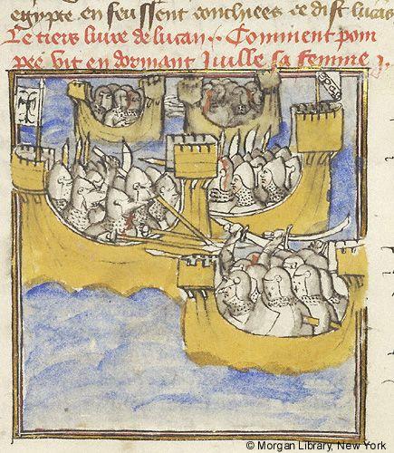 Histoire universelle depuis la Création jusqu'a César, MS M.516 fol. 332r - Images from Medieval and Renaissance Manuscripts - The Morgan Library & Museum