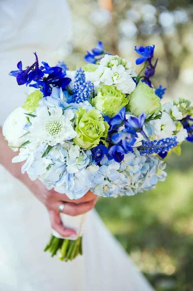 30 Purple & Blue Wedding Bouquets | Purple blue weddings, Weddings ...