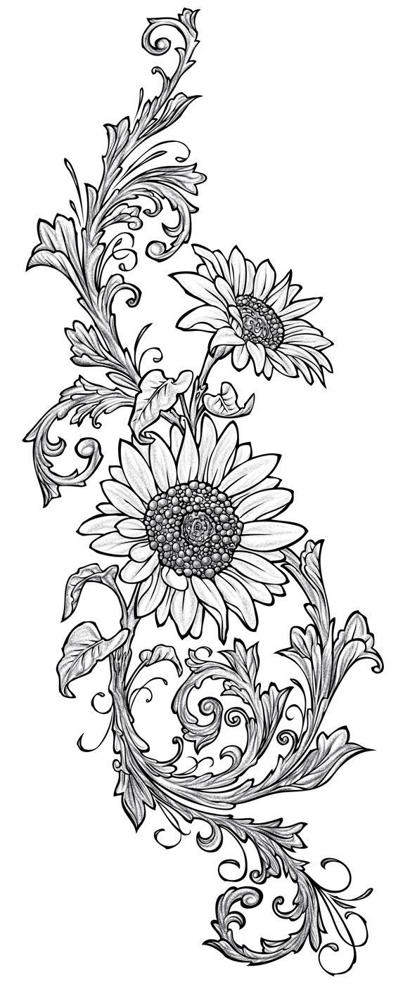 Pin de MacKenzie Evans en Tattoos   Pinterest   Girasoles ...