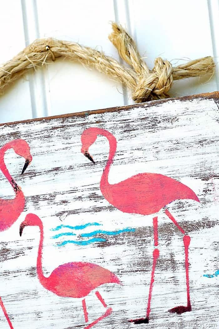 Blukatkraft Diy Quick Easy Wall Art For Bathroom: Try This Quick DIY: Pink Flamingo Junk Sign (With Images