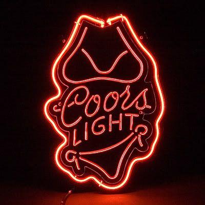 Coors Light Bikini Logo Red Neon Bar Mancave Sign In 2020 Neon Signs Custom Glass Coors Light