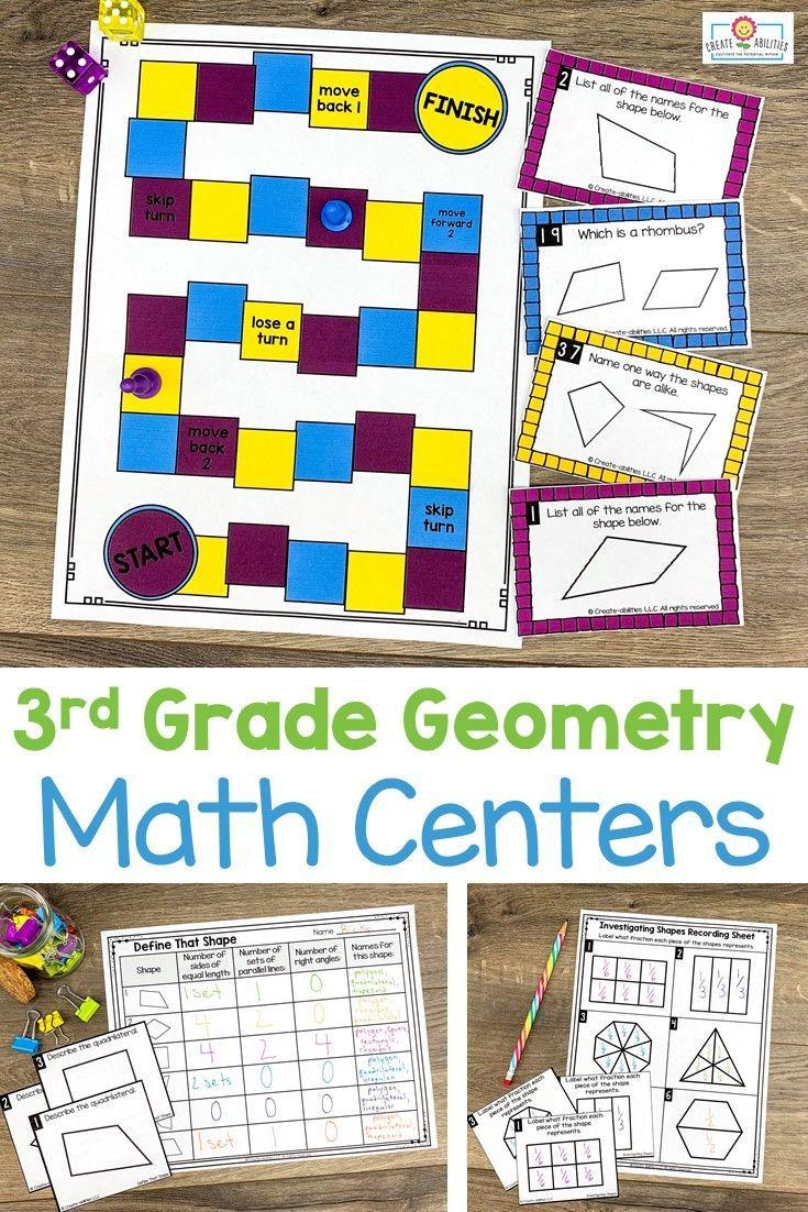 3rd Grade Geometry Math Centers Math centers, Math, 3rd