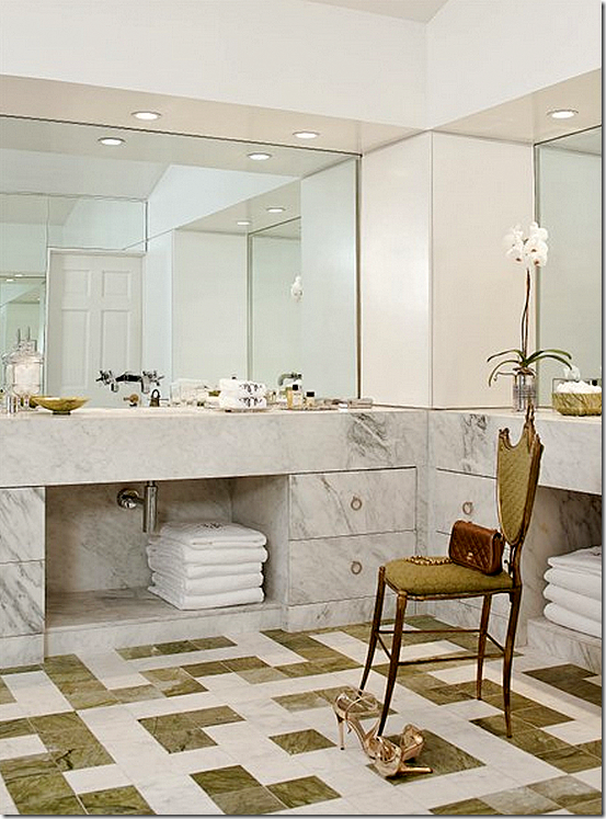 Houston Tx Interior Designer Martha Baxter Finger Designed This Bathroom That Was Inspired By Jean Michael Frank Love The Tile Floor And Marble Front