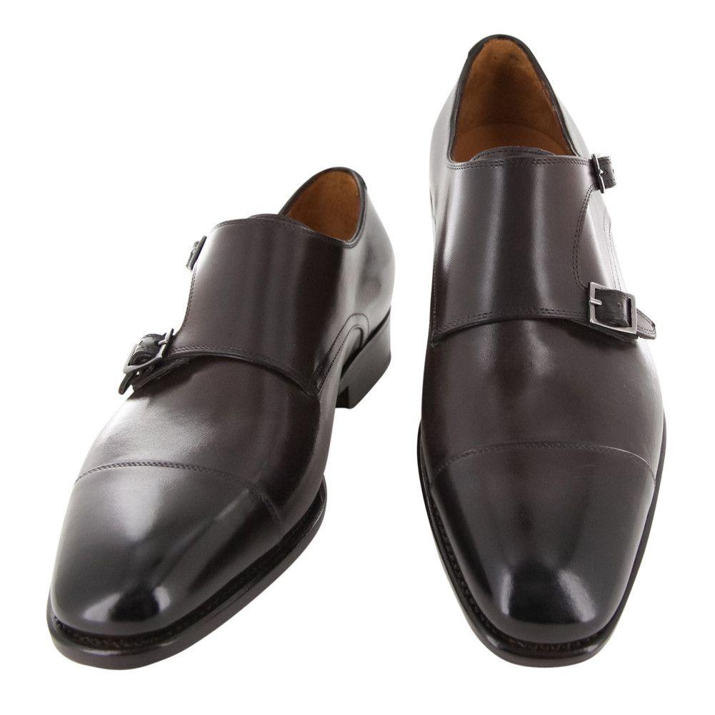 New $1250 Fiori Di Lusso Brown Shoes - Monk Straps - 6/5 - (LONDONBRN)