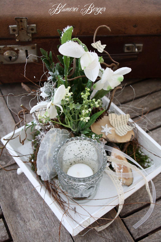 deko objekte tischdeko schneegl ckchen ein designerst ck von blumereiberger bei. Black Bedroom Furniture Sets. Home Design Ideas