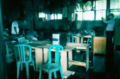 40 Komputer Ludes dalam Kebakaran Labor SD Santa Maria Pekanbaru