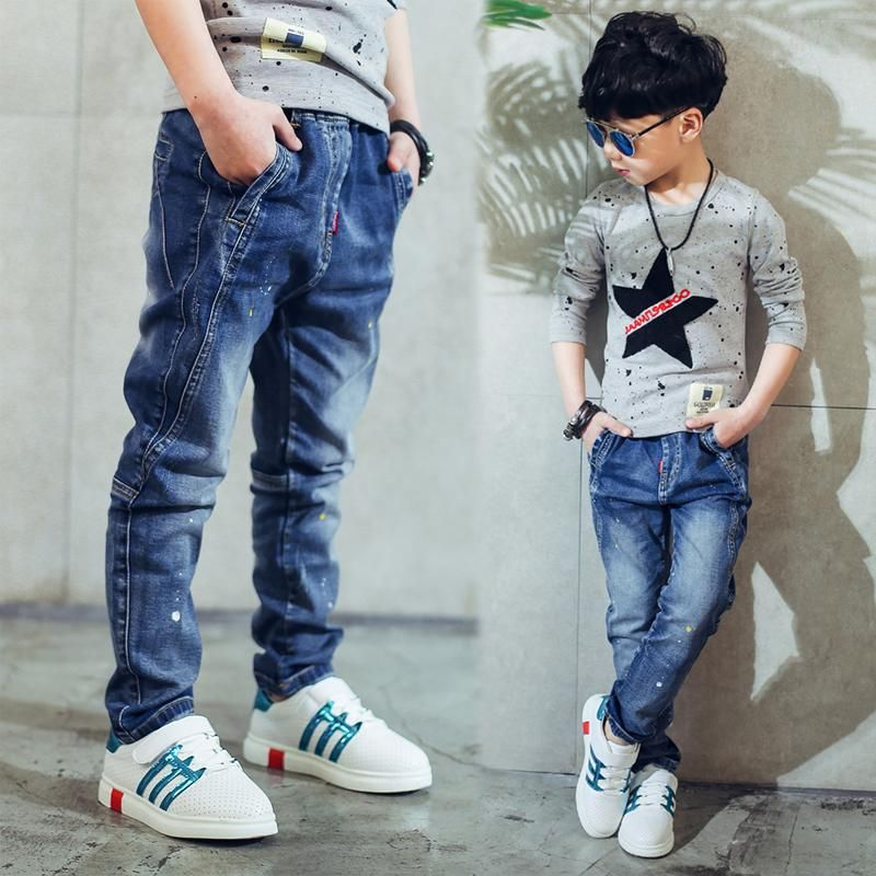 Boy S Jeans Children S Clothing Boys Jeans Spring And Autumn Splash Ink Children Pants 3 4 5 6 7 8 9 10 11 12 13 14 Years Old Boys Jeans For Sale Kid Skinny Je Skinny Jeans Kids Childrens Clothes Boys Kids Clothes Boys