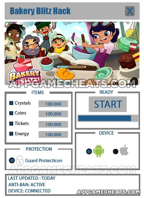 Bakery Blitz Cheats & Hack for Crystals Coins Tickets