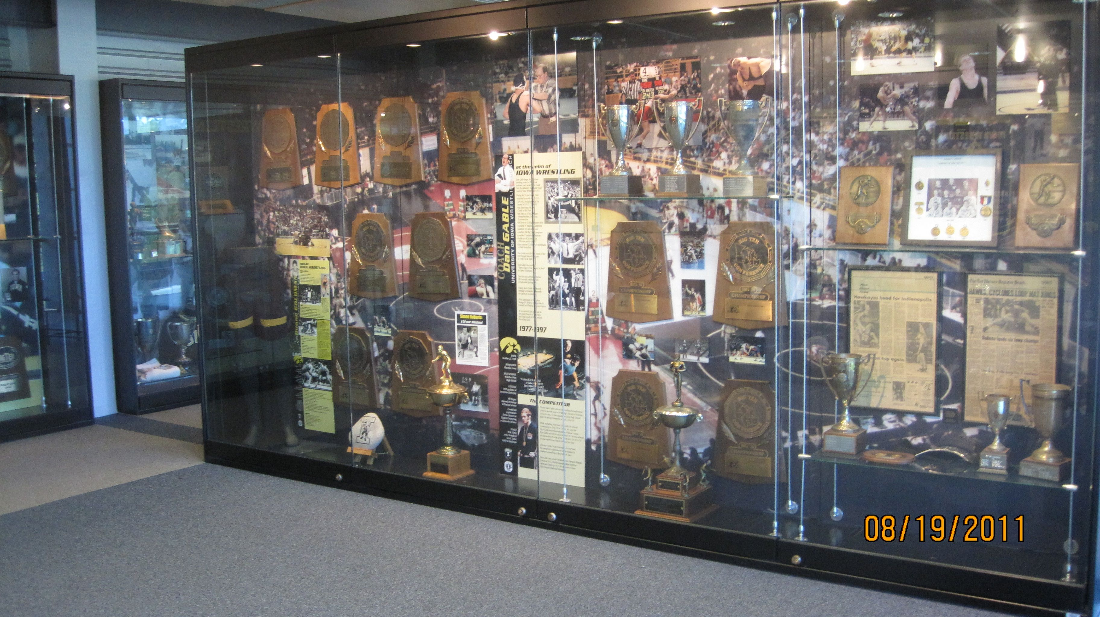 A Second Iowa Wrestling Exhibit That Hold Many Trophies And