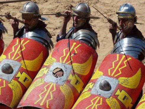 Roman army reenactment in Jerash, Jordan