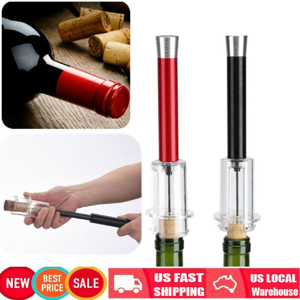 Stainless Steel Red Wine Bottle Opener Cork Remover Air Pump Pressure Corkscrew In 2020 Wine Bottle Opener Red Wine Bottle Wine Bottle
