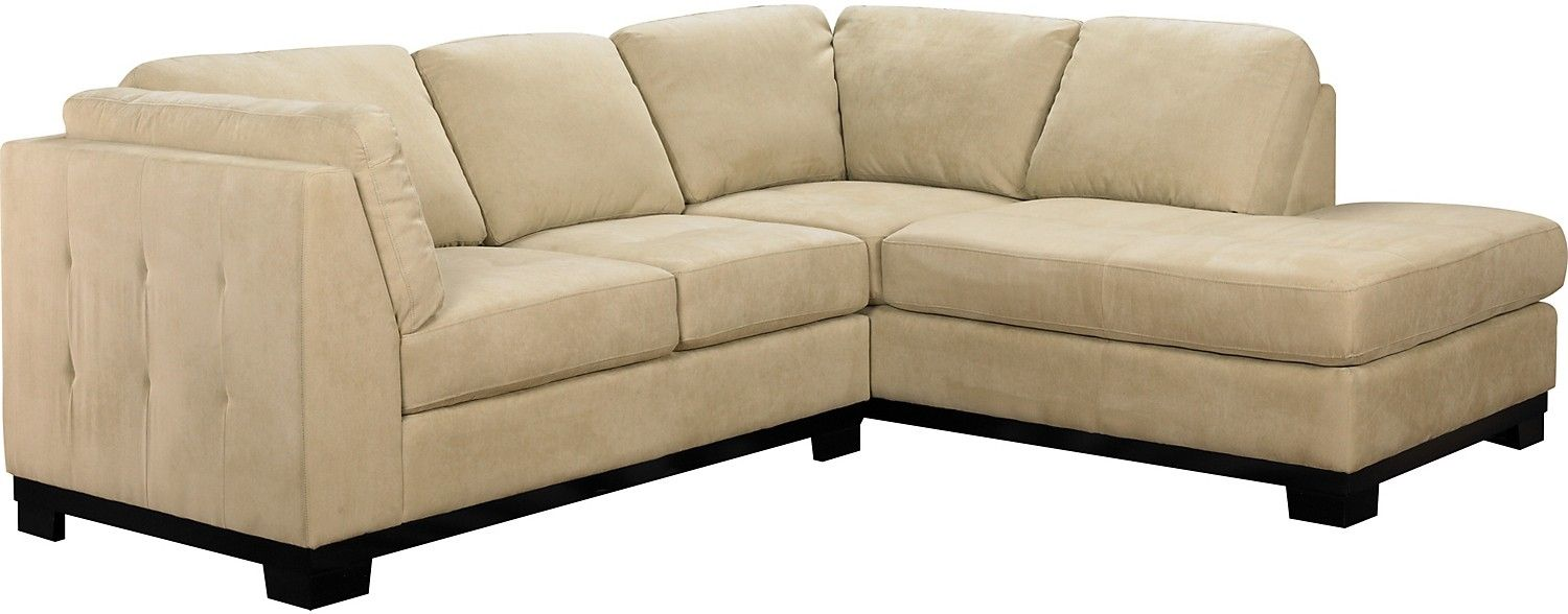 The Brick Living Room Furniture Oakdale 2 Piece Microsuede Sectional W Right Facing Chaise