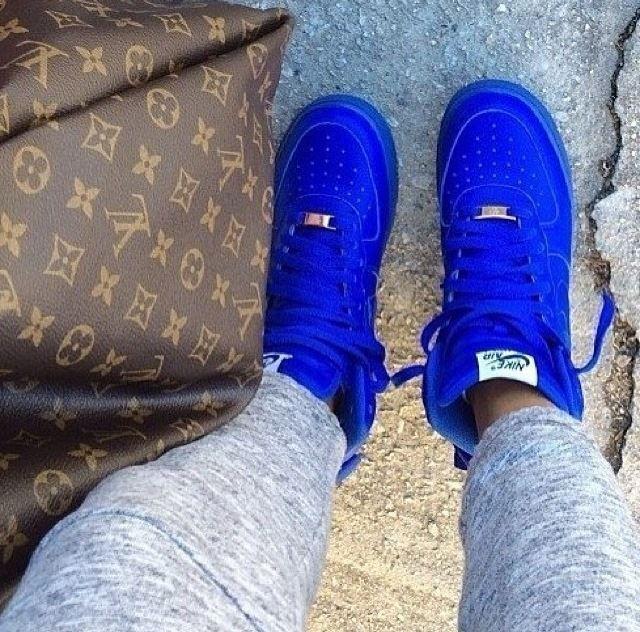 zapatillas azul nike