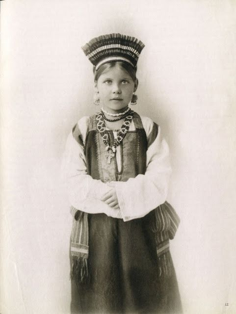 Southern Russia, Province of Tula Ethnically Russian people. old photo