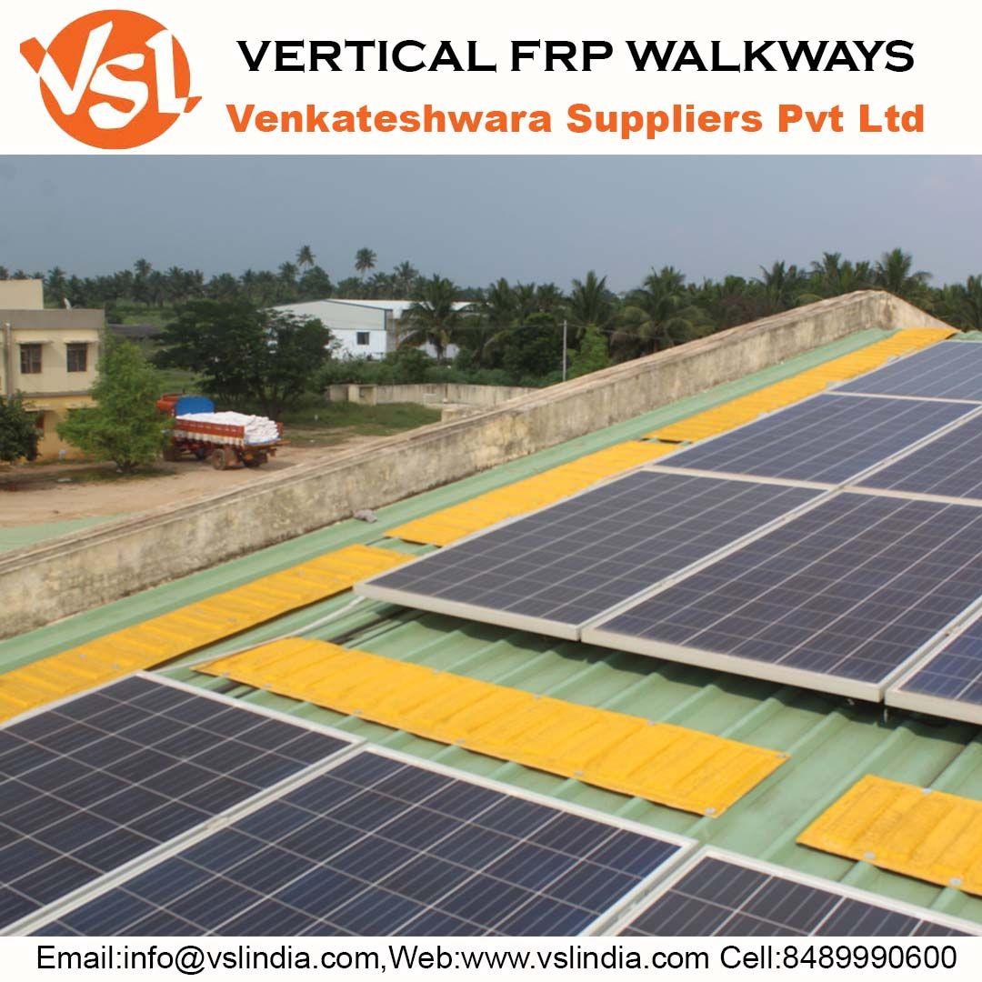 VERTICAL FRP WALKWAYS in 2020 Solar, Rooftop, Roof solar
