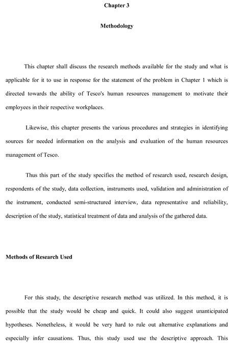 Methodology Sample Dissertation Writing Essay Section Of Example