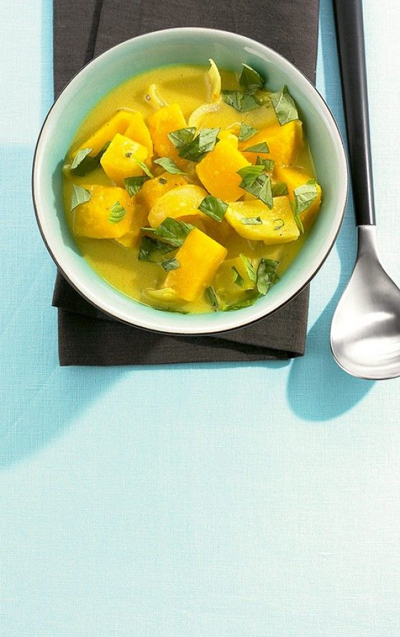 Kürbis-Curry-Suppe