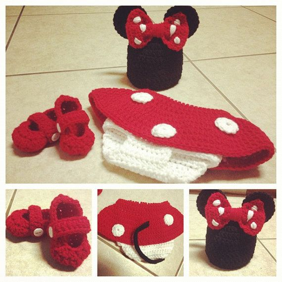 Minnie Mouse Baby Outfit by astitchintime36 on Etsy, $45.00