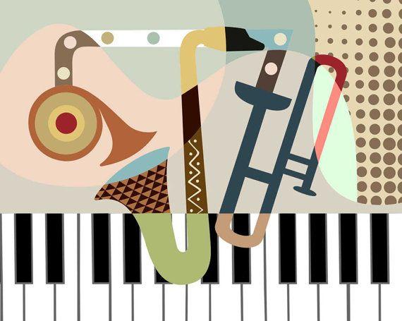 Music Art Print Gift For Music Lover Music Decor Saxophone Art Piano Art Music Wall Art Classical Music Poster Ideas Classical Music Poster Retro Music