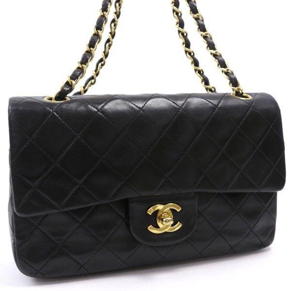 Auth CHANEL Matelasse Chain Shoulder Bag Black Double Flap  fashion   clothing  shoes  accessories  womensbagshandbags  ad (ebay link) e003bbf72e268