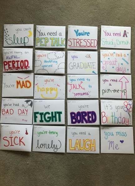 35+ Super Ideas birthday surprise ideas for best friend gift open when letters
