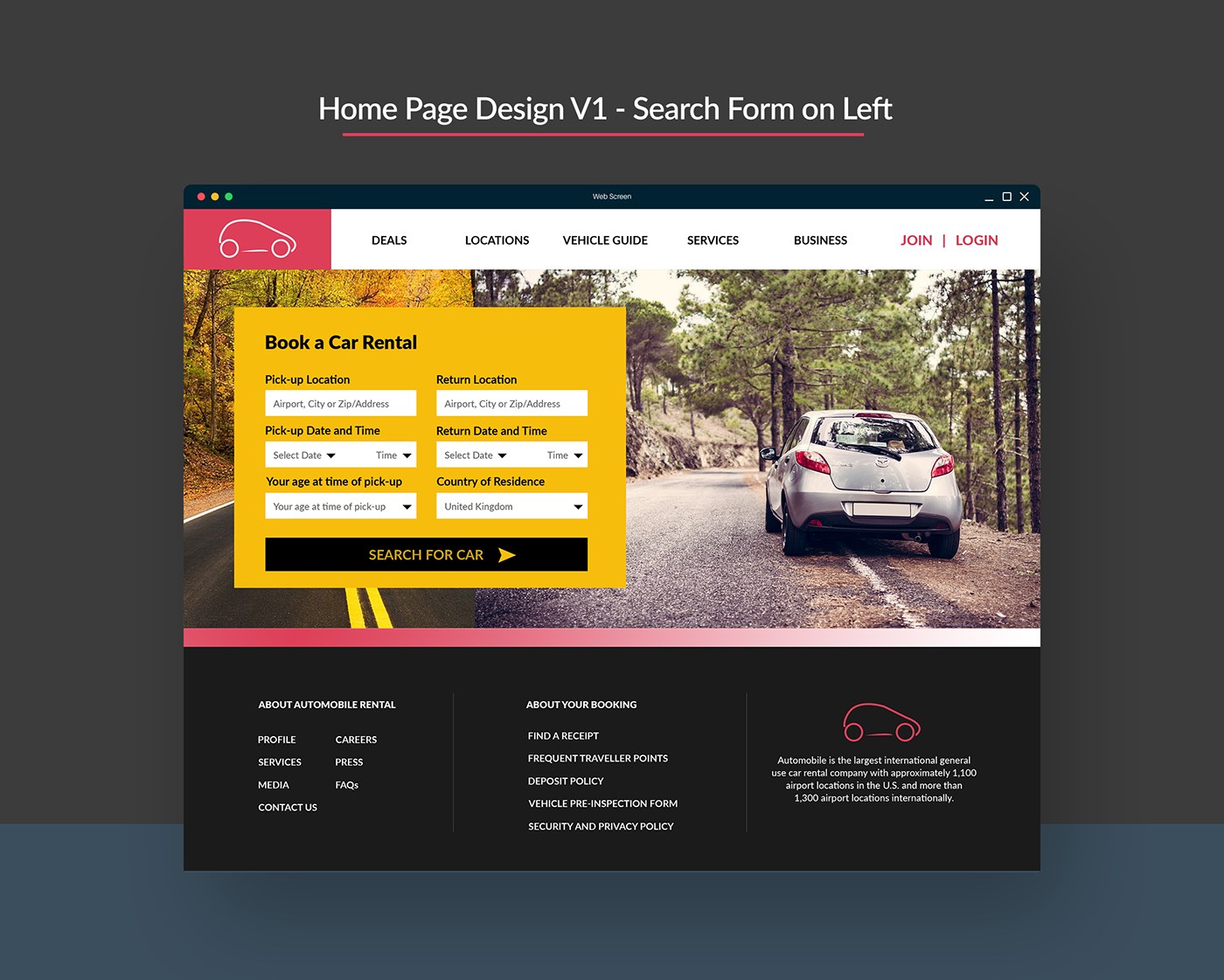 Car Rental Websites >> Ux And Ui Improvements To The Design And Layout Of Car Rental