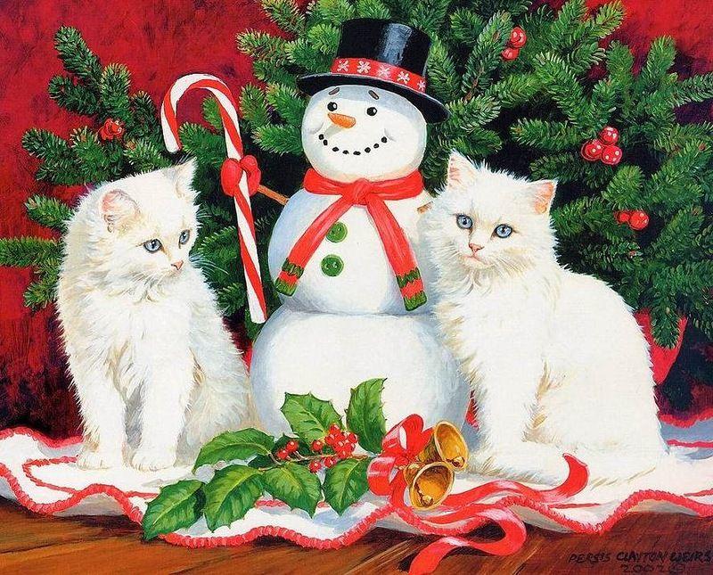 Поздравления новый год кота