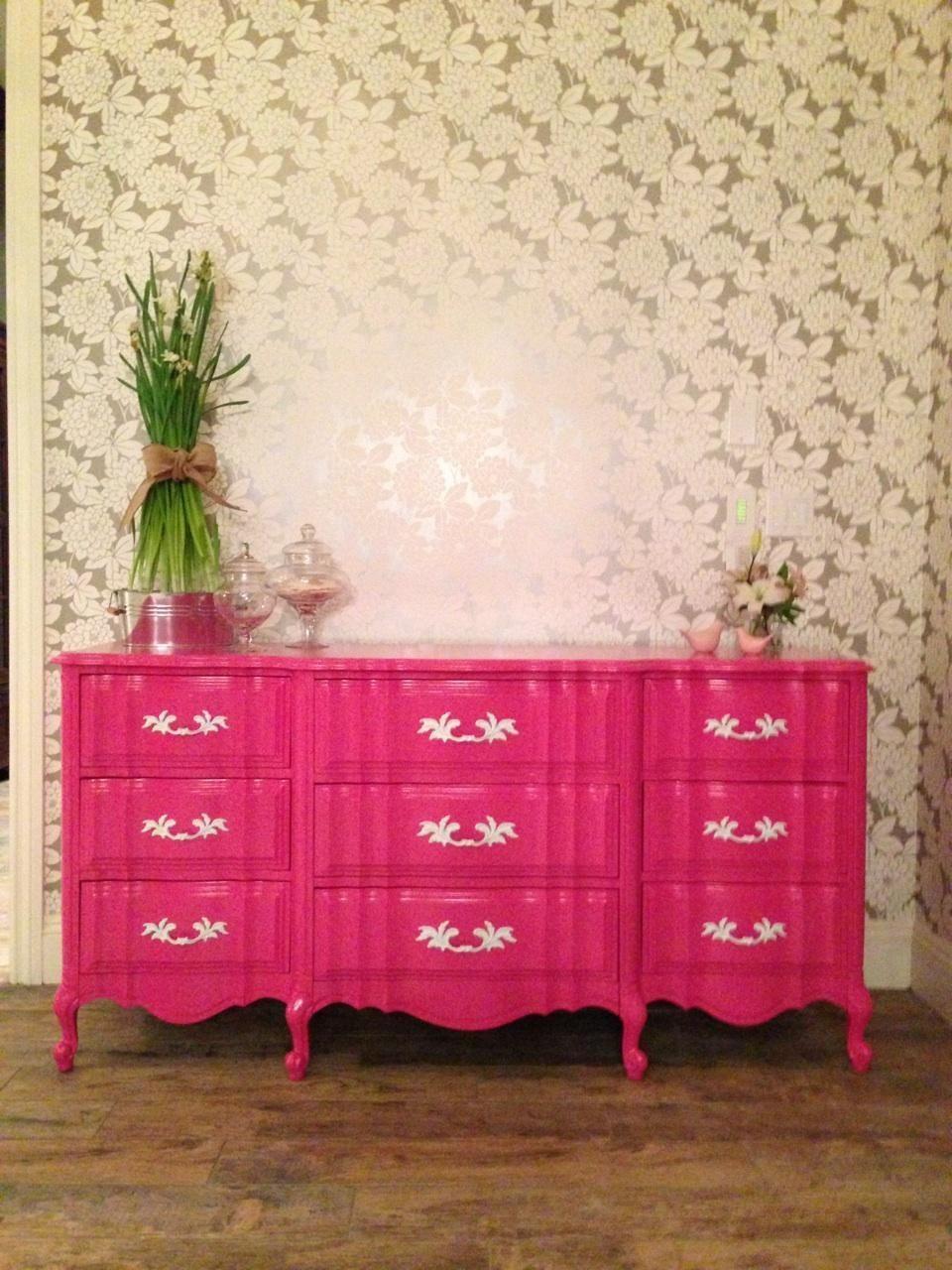 Berry Pink French Provincial Dresser Kidsbedroomfurniture