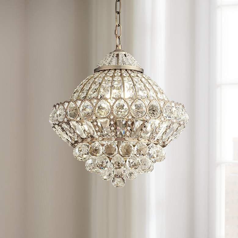 Wallingford 16 Wide Antique Brass Crystal Chandelier W6879