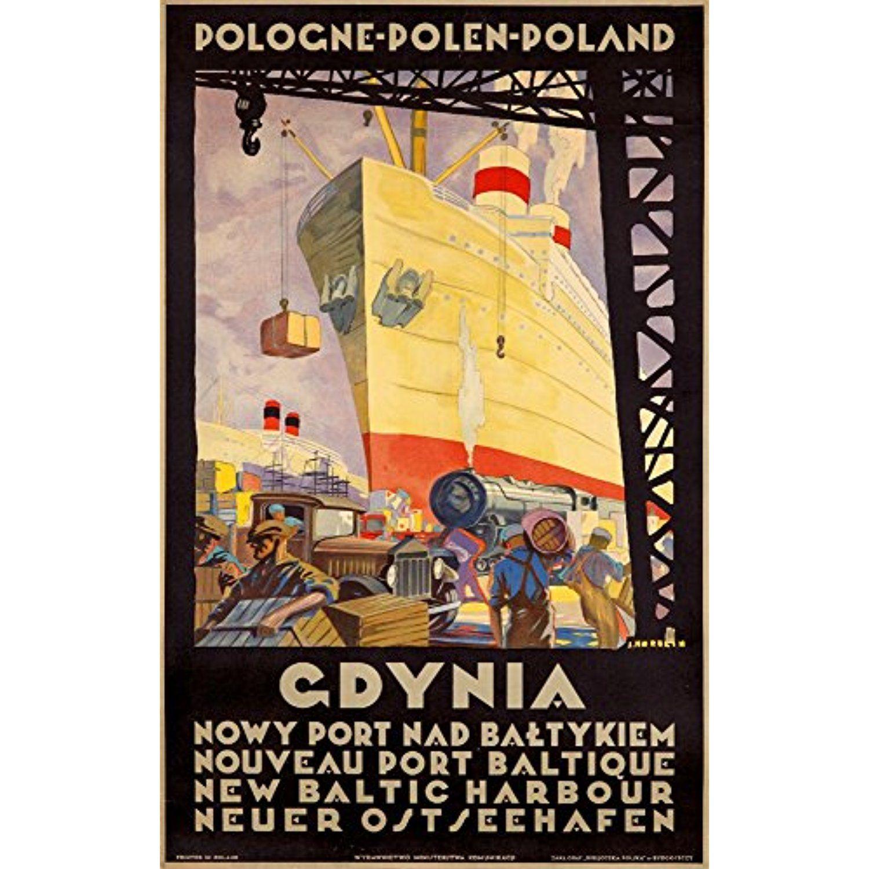 Gdynia Vintage Poster (artist: Norblin, Stefan) Poland c. 1950 ...
