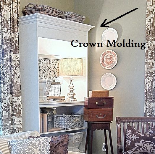 Cheap Bookshelves Ideas: How To Add Crown Molding To A Bookcase