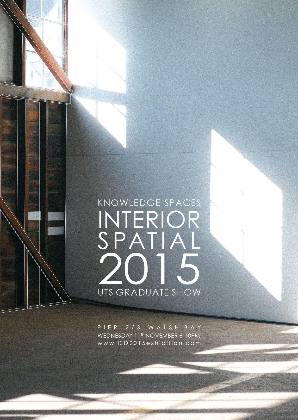 Interior Spatial 2015 UTS Graduate Show Knowledge Spaces