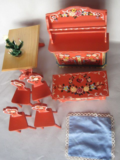 konvolut k chenm bel bauernmalerei wohl d kuhn puppenstube rot pinterest. Black Bedroom Furniture Sets. Home Design Ideas