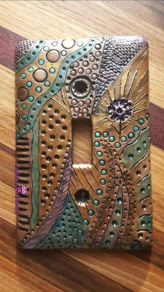 Custom Polymer Clay Standard Light Switch Plate Cover