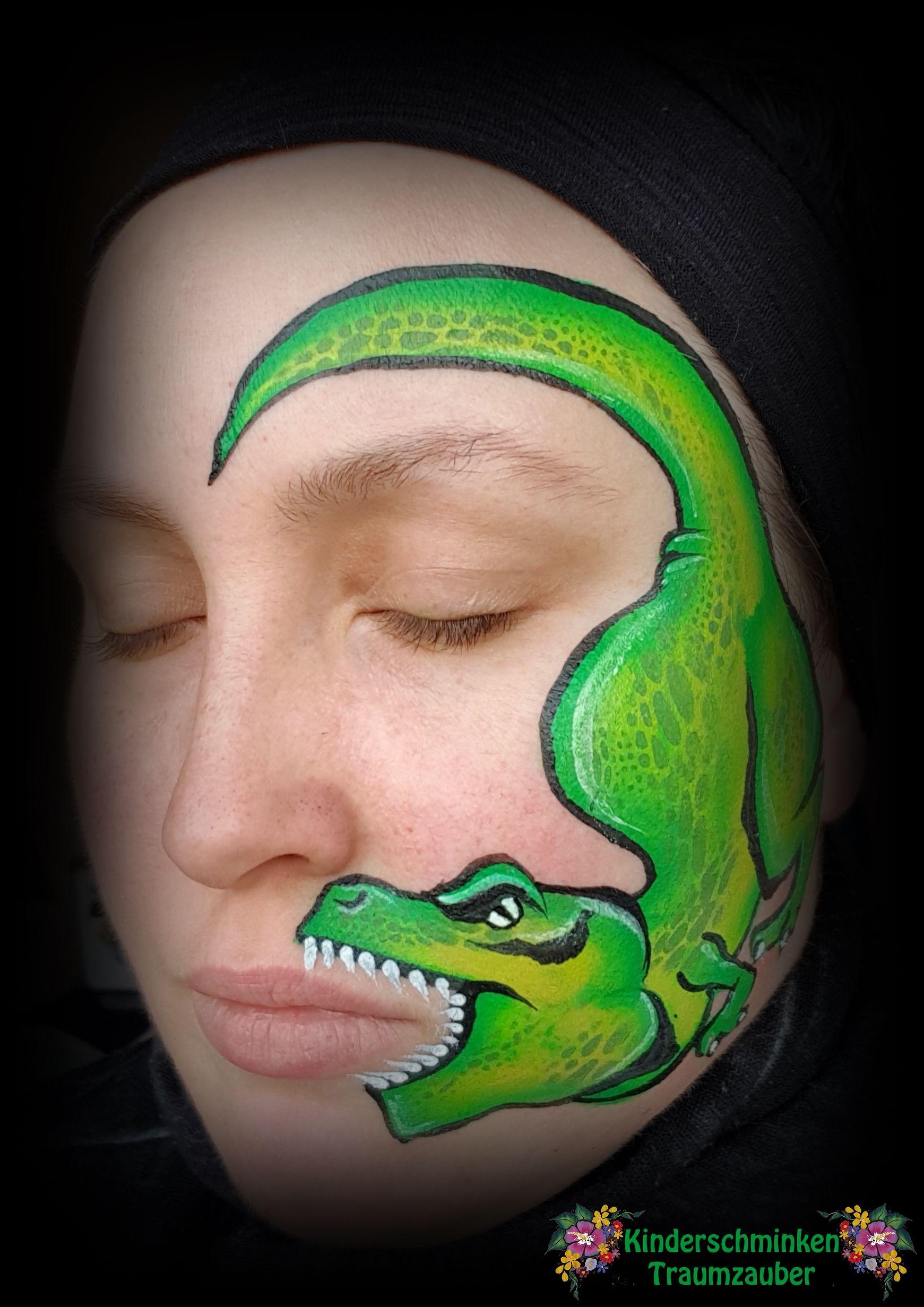 Dinosaurier T Rex Dinosaur Kinderschminken Face Painting