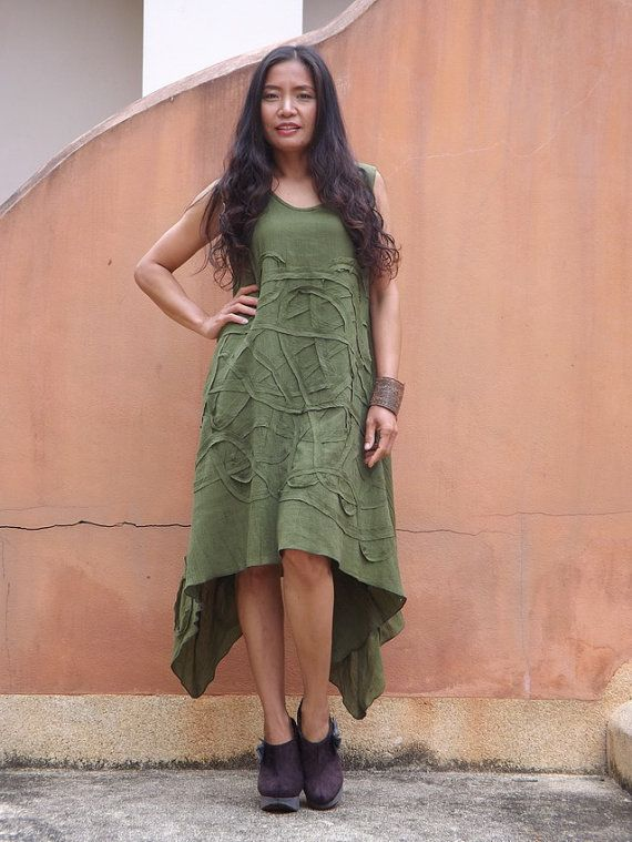 Dress   ...Summer Dress  ....Color Green by Ablaa on Etsy