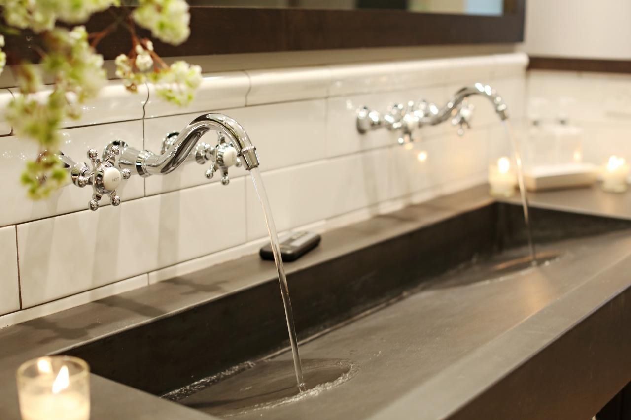 sinks two images faucet sink trough faucets bathroom with double trends beautiful three