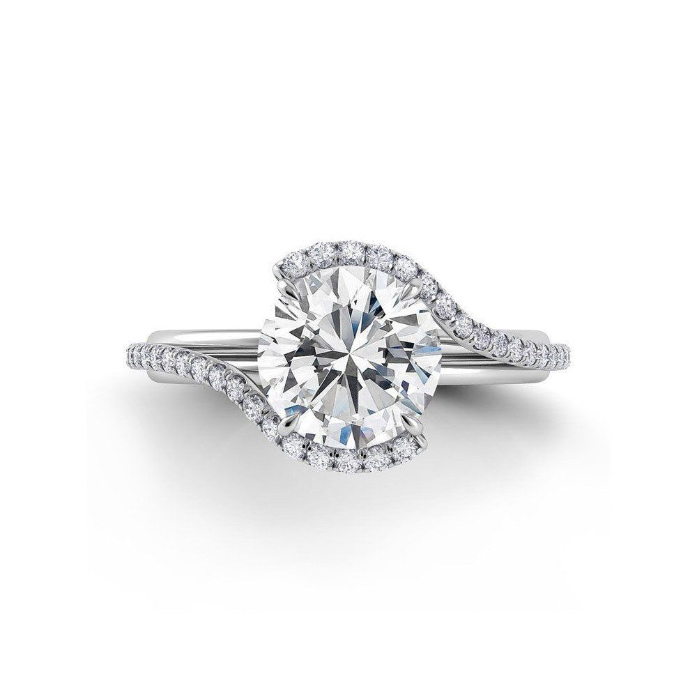 engagement tinker wedding nbsp round rings swirl pav halo pave solitaire setting in ring brilliant