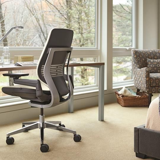 The Steelcase gesture chair has fancy ergonomics and an assortment of colors is perfect for the creative home office. #steelcase