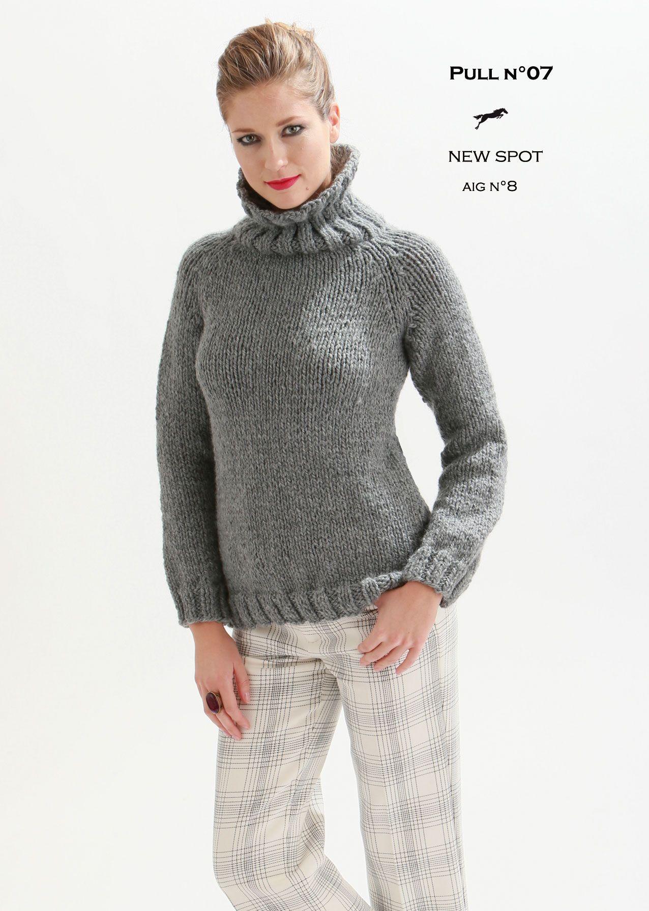 mod le de tricot pull femme catalogue cheval blanc n 21 laine utilis e new spot cheval. Black Bedroom Furniture Sets. Home Design Ideas