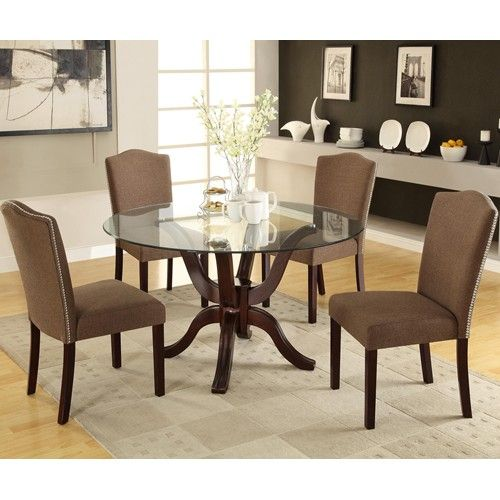 Round Dining Tables Ideas And Styles For Sophisticated: A Casual And Sophisticated Small Sized Dining Set, Perfect