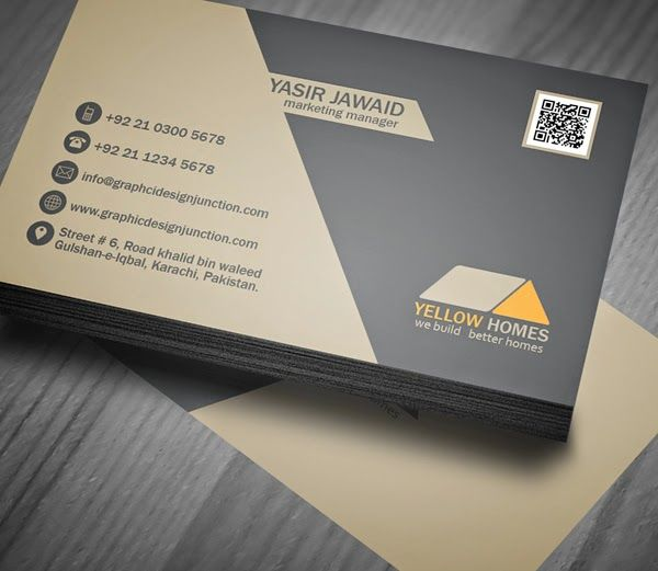 Free Real Estate Business Card Template (PSD) free4commercial