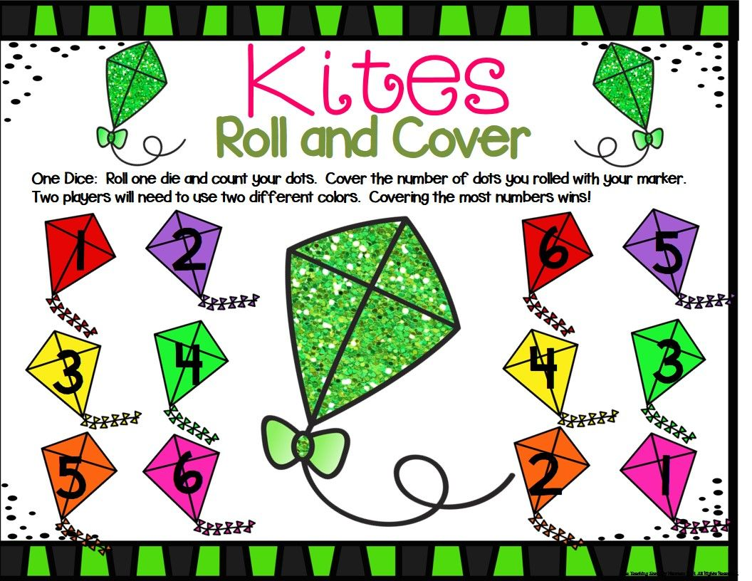 Kite Math Center Dice Games