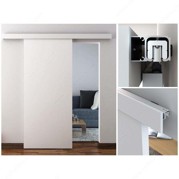 Traditional Sliding Door Set for Suspended Wooden Door (Soft Close Included) - Richelieu Hardware