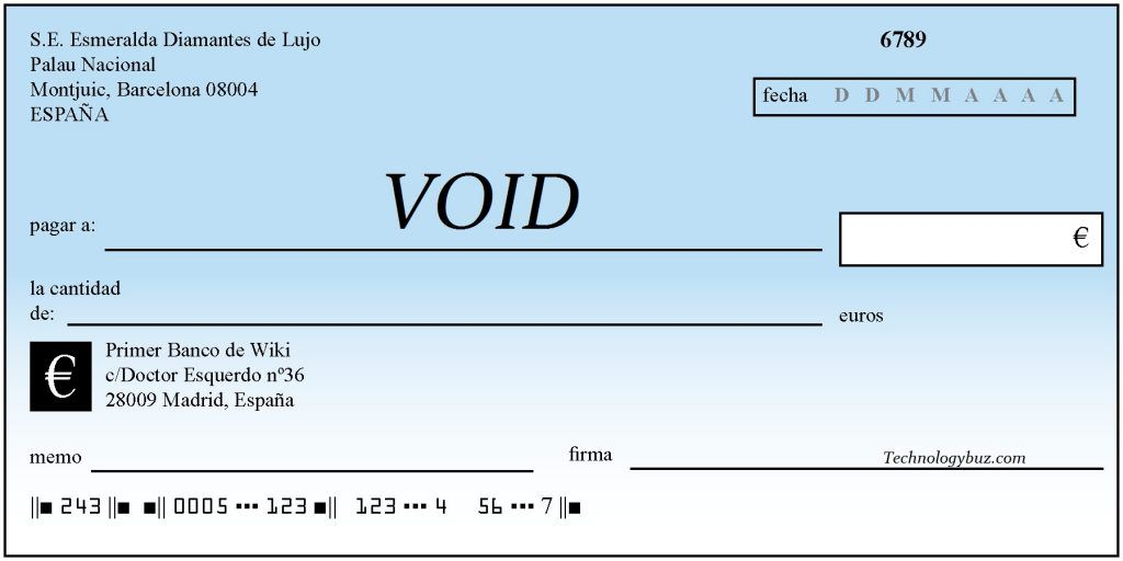 What Is A Voided Check Business Business News Void