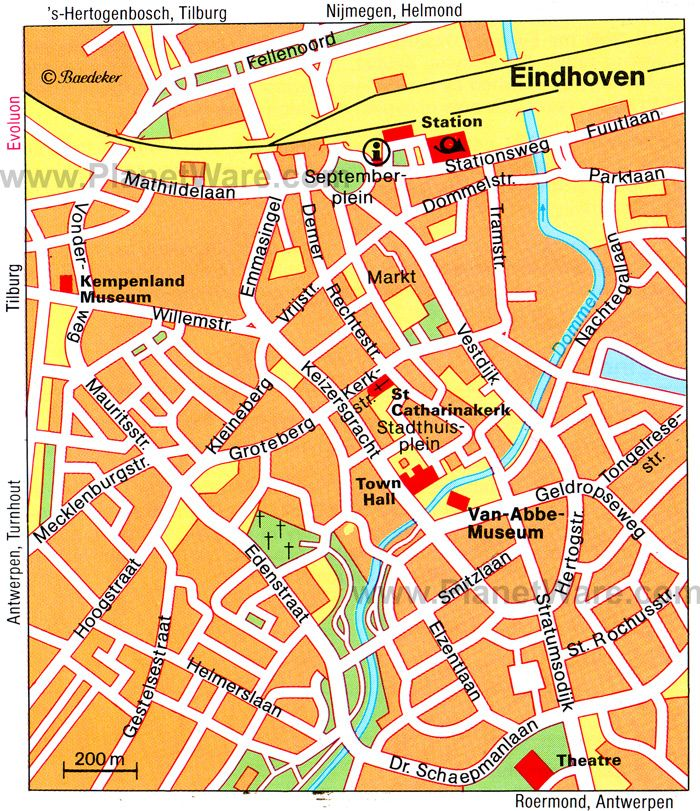 Eindhoven Map - Tourist Attractions | Traveling in 2019 | Tourist ...