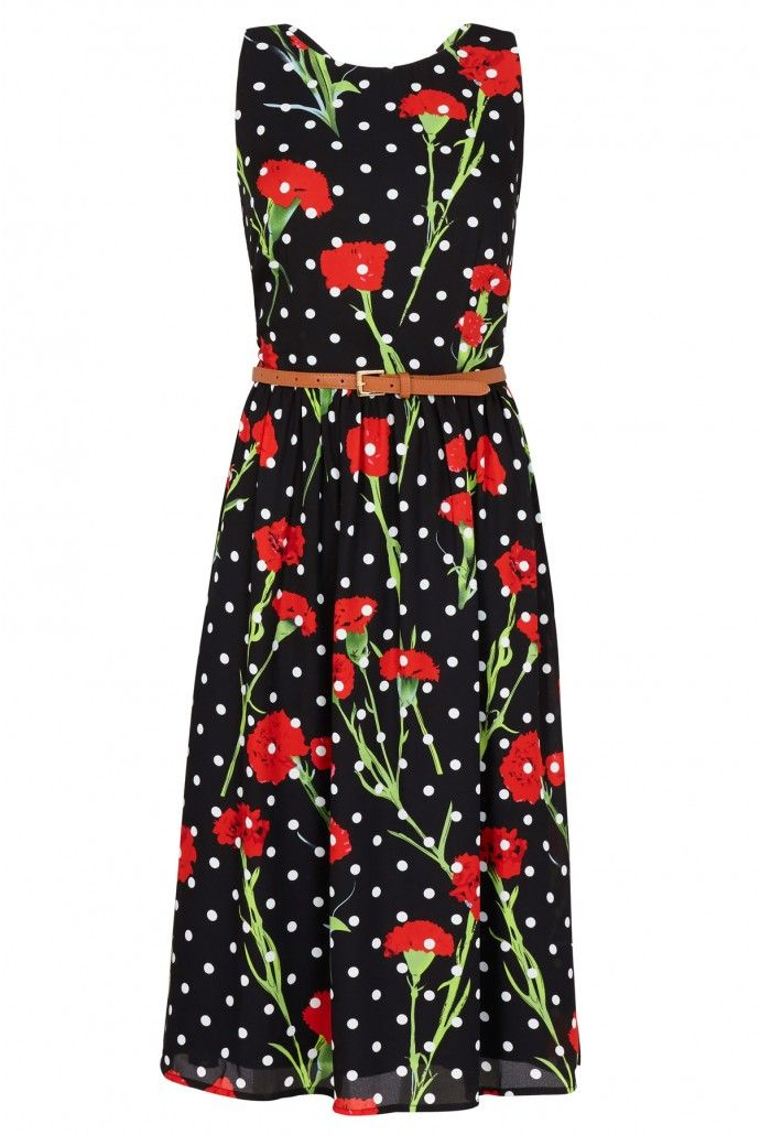 9b42d81ca2e Poppy Polka Dot Midi Dress
