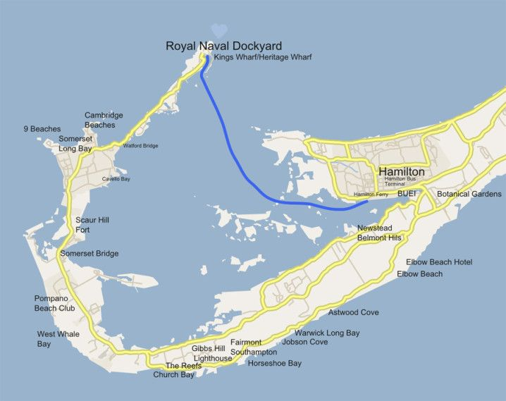 kings wharf bermuda map Bermuda Ferry Blue Route Hamilton To Dockyard And Kings Wharf kings wharf bermuda map